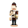 Alexander Taron Wood Santa and Teddy Natural Nutcracker Ornament