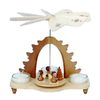 Alexander Taron Wood Angel Natural Tea Candles Pyramid Ornament