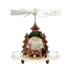 Alexander Taron Wood Woodsman Pyramid Candle Holder Ornament