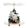 Alexander Taron Wood Santa with Tree Ornament