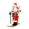 Alexander Taron Wood Santa On Skis Ornament