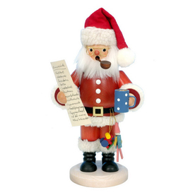 Alexander Taron Wood Santa with Wish Ornament