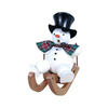 Alexander Taron Wood Snowman On Sled Ornament