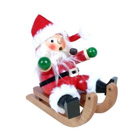 Alexander Taron Wood Santa On Sled Ornament