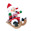 Alexander Taron Wood Santa On Sled Ornament