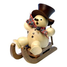 Alexander Taron Incense Burner Snowman Indoor Christmas Decoration