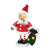 Alexander Taron Wood Santa with Sack Ornament