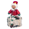 Alexander Taron Wood Sitting Santa Smoker Ornament