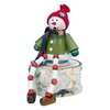 Alexander Taron Wood Sitting Snowman Smoker Ornament