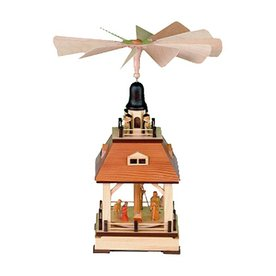 Alexander Taron Wood Nativity Pyramid