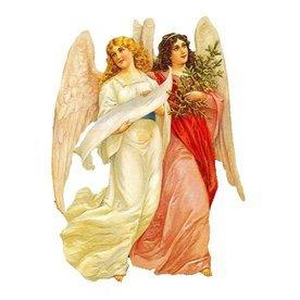 Alexander Taron 2-Angels Standing Christmas Card