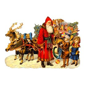 Alexander Taron Sleigh Kids Standing Christmas Card Ornament