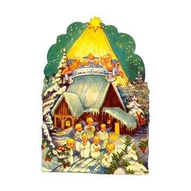 Alexander Taron Angel Choir Standing Christmas Card Ornament