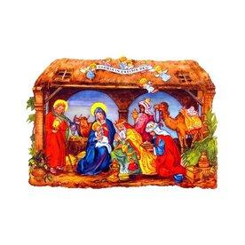Alexander Taron Nativity Standing Christmas Card Ornament
