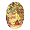 Alexander Taron Girls Oval Standing Christmas Card Ornament
