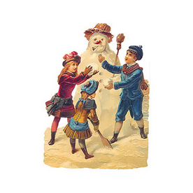 Alexander Taron 1-Pack Snowman Standing Holiday/Season Greeting Card Includes Envelope