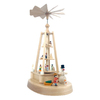 Alexander Taron Wood Lighted Snowman 110-Volt Pyramid Ornament