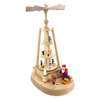 Alexander Taron Wood Lighted Santa 110-Volt Pyramid Ornament