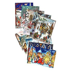 Alexander Taron 12-Pack Small Assorted Advent Calendar Ornament