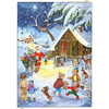 Alexander Taron Santa with Donkey Advent Calendar Ornament