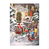Alexander Taron Small Santa In Sleigh Advent Calendar Ornament