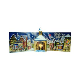 Alexander Taron Village Church 3D Advent Calendar Ornament