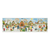 Alexander Taron Panorama Village Advent Calendar Card Ornament