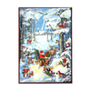 Alexander Taron Small Santa In The Wood Scene Advent Calendar Ornament