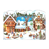 Alexander Taron Small Village Scene Advent Calendar Ornament