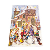 Alexander Taron Children Playing with Snowman In Street Advent Calendar Ornament