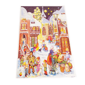 Alexander Taron Village Kids Large Advent Calendar Ornament