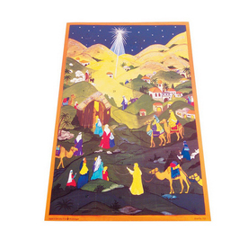 Alexander Taron Star Large Text Advent Calendar Ornament