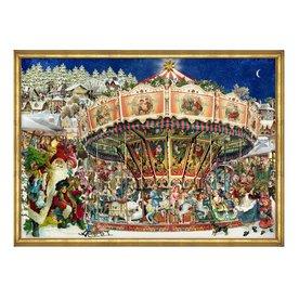 Alexander Taron Advent Calendar Carousel Indoor Christmas Decoration