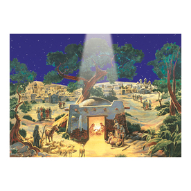 Alexander Taron Manger Scene Advent Calendar Ornament