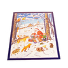 Alexander Taron Santa with Children and Animals Small Advent Calendar Ornament