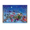 Alexander Taron Santa On Sleigh Advent Calendar Ornament