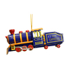 Alexander Taron Metal Locomotive Blue Ornament Ornament