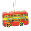 Alexander Taron Metal Double Decker Bus Ornament