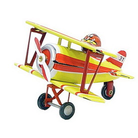 Alexander Taron Metal Biplane with Pilot Ornament