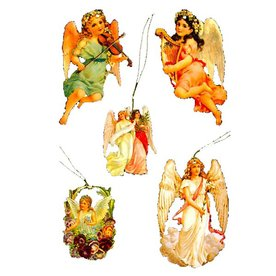 Alexander Taron 5-Pack Assorted Angels Gift Tag Ornaments