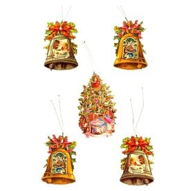 Alexander Taron 5-Pack Bells/Tree Gift Tags Ornaments