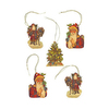 Alexander Taron 5-Pack Santa Claus Gift Tag Ornaments