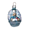 Alexander Taron Blue Glass Mini Baby Ornament