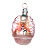 Alexander Taron Pink Glass Mini Baby Ornament