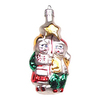 Alexander Taron Glass Glass Twins Ornament