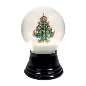 Alexander Taron Glass Medium Christmas Tree Snow Globe Ornament