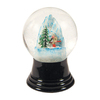 Alexander Taron Glass Medium Skier Snow Globe Ornament