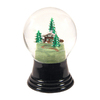 Alexander Taron Glass Medium House and Tree Snow Globe Ornament