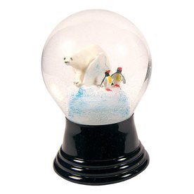Alexander Taron Glass Medium Polar Bear Snow Globe Ornament