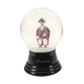Alexander Taron Glass Mouse King Snow Globe Ornament